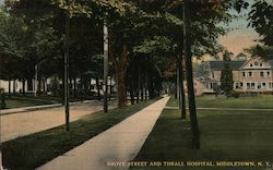Grove Street and Thrall Hospital