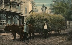 Wagon Loaded With Hay at Hortons