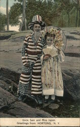 Uncle Sam and Miss Japan - Children in Costume