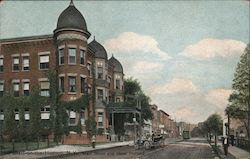 Main Street and Hotel Holland Postcard
