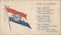 Flag of Missouri Postcard
