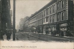 View on 4th Ave. Bet. Green & Walnut Sts. Postcard