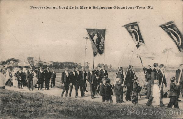 Procession by the Sea in Plounéour-Trez France