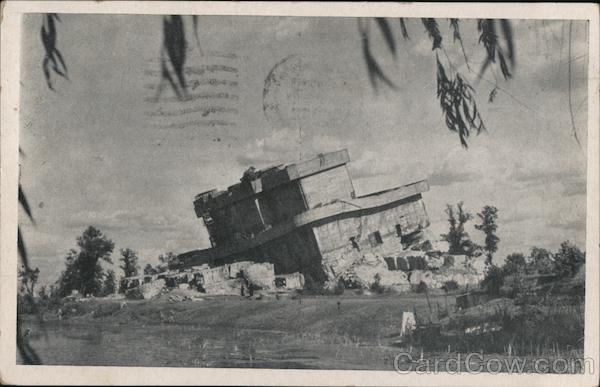 Berlin - Air RaidBunker after partial destruction by the Allies Germany