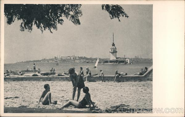 A beach on the Bosphorous Istanbul Turkey Greece, Turkey, Balkan States