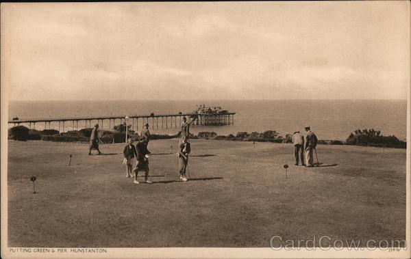 Putting Green & Pier Hunstanton England Norfolk