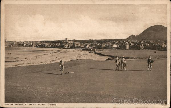 Golf Course and Town From Point Garry North Berwick Scotland