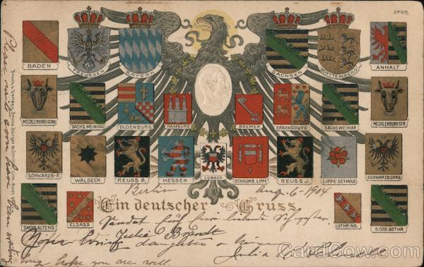 A German Greeting -- Coats of Arms of the German States Germany