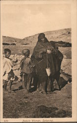 Bedouin woman spinning