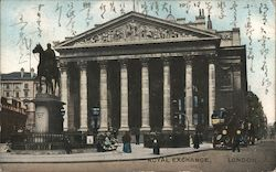 View of Royal Exchange - Mailed to Japan