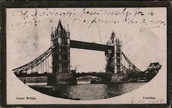 View of Tower Bridge - Mailed to Japan