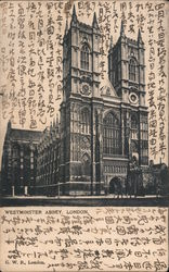 View of Westminster Abbey - Japanese Writing