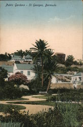 View of Public Gardens Postcard