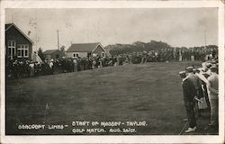 Start of Massey-Taylor Golf Match, August 24, 1907
