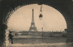 Eiffel Tower from a Vault of the Passy Viaduct