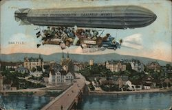 Sallfeld - town view with Zeppelin