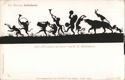 "Silhouette animal parade, from ""Per aspera ad astra"" by K.W. Diefenbach"