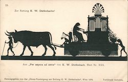 "Silhouette montage of farming and organ playing - From ""Per aspera ad astra"" by K.W. Diefenbach"