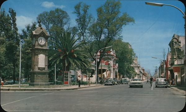 Unusual Public Clock on Bravo Drive Puebla Mexico