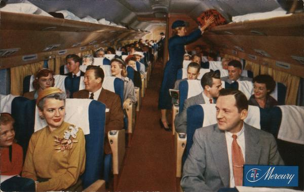 American Airlines - America's Leading Airline - DC-7 Flagship Main Cabin