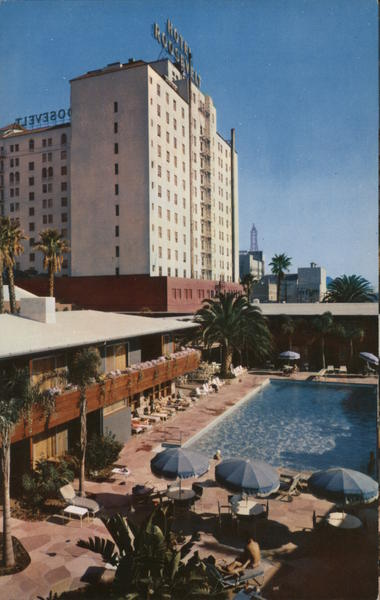 Roosevelt Hotel and Promenade Hollywood California