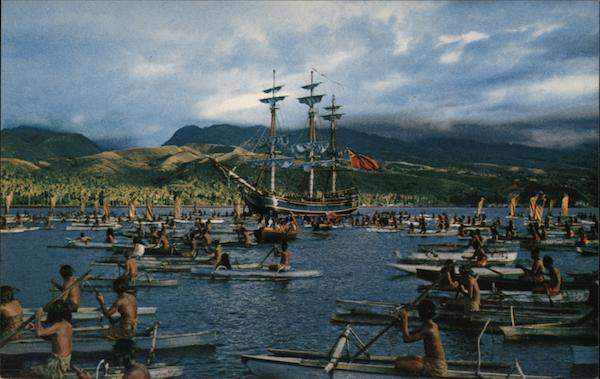 Bounty Arrives at Tahiti Boats, Ships