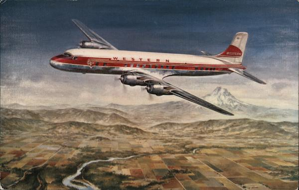 Queen of the Western Airlines Fleet is the DC-6B Aircraft