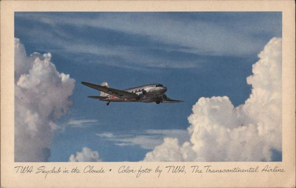 TWA Skyclub in the Clouds, The Transcontinental Airline
