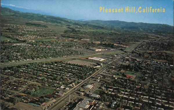Aerial View of A Pleasing Community of Suburban Homes Pleasant Hill California