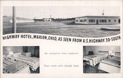 Highway Motel as Seen from US Highway 30-South Postcard