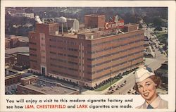Chesterfield Tobacco Factory Postcard