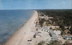 View Looking East at Wasaga Beach Postcard