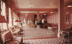 Lounge, North End Hotel Postcard