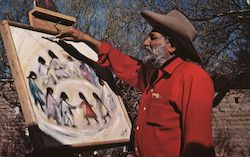 "DeGrazia and His Little Children ""Los Ninos"""