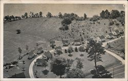 Bird's Eye VIew of Rainbow Cottages Postcard