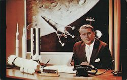 Dr. Werneher von Braun, Director of the NASA Marshall Space Flight Center Postcard