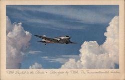 TWA Skyclub in the Clouds, The Transcontinental Airline Postcard