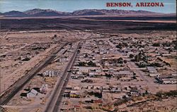 Aerial View of Benson, Arizona Postcard