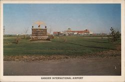 Famous Entrance Sign at Gander International Air Terminal Postcard