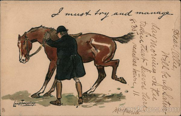 Rider Working With Skittish Horse: I Must Try and Manage