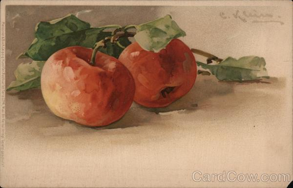 Two Red Apples C. Klein Fruit