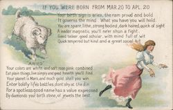 If You Were Born From March 20 to Aprl. 20 Postcard