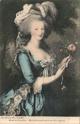 Marie Antoinette by Mme Lebrun at Musee de Versailes