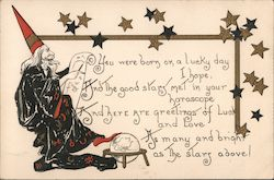 Wizard Giving Fortune Postcard