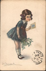 Girl Delivering Postcard