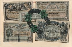 Horseshore & 4-Leaf Clovers on South African Banknotes