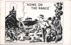 """Dude"" Larson Art Card: ""Home on the Range"""