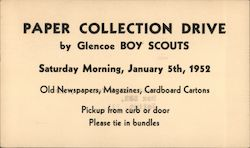 Paper Collection Drive by Glencoe Boy Scouts, January 5 1952