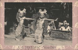 SS President Coolidge - Temple Dancers of the Island of Bali