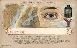 Nonsense Rebus Series: City of ? Postcard